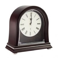 London Clock Company 06412 Radio Controlled Solid Wood Mantel Clock